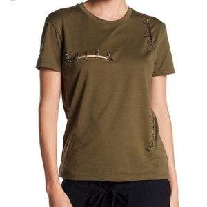 The Kooples Green Safety Pin Tee t-shirt size 1